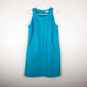 Banana Republic Turquoise Brocade Sheath Dress
